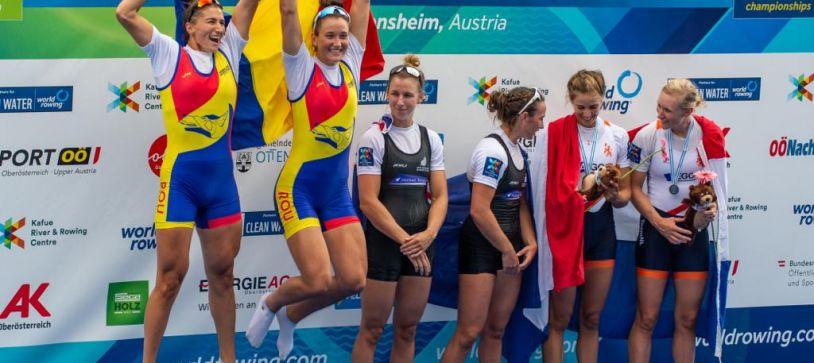 Două medalii de argint pentru România la Campionatul Mondial de Canotaj de la Linz