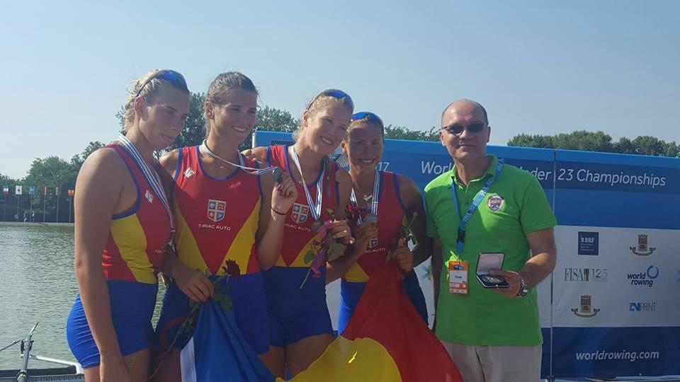 Medalie de argint la patru rame feminin în finala Campionatului Mondial de Tineret